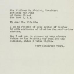 Letter: 1945 November 1