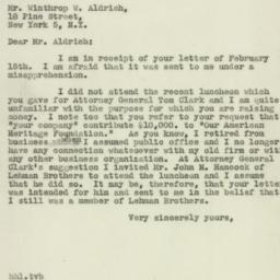 Letter : 1947 February 18