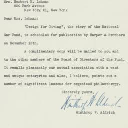 Letter: 1947 November 10