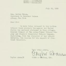 Letter: 1936 July 28