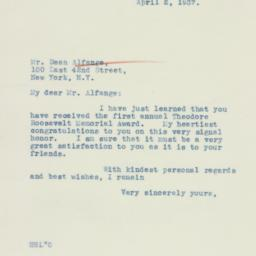 Letter : 1937 April 2