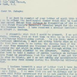 Letter : 1937 April 21