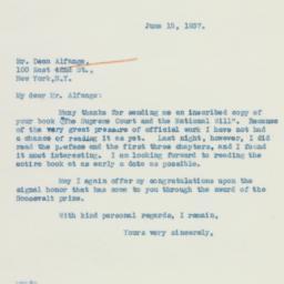 Letter : 1937 June 15