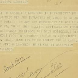 Telegram : 1938 October 20