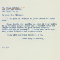 Letter: 1941 March 19