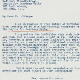 Letter : 1941 November 25