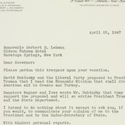 Letter : 1947 April 23