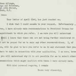 Letter: 1947 April 26