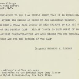 Telegram: 1948 January 17