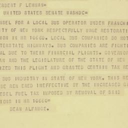 Telegram : 1956 June 1