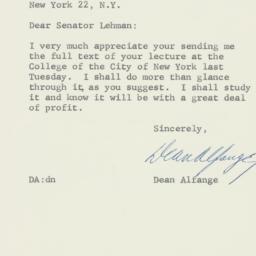 Letter : 1957 April 8