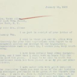 Letter: 1933 January 10