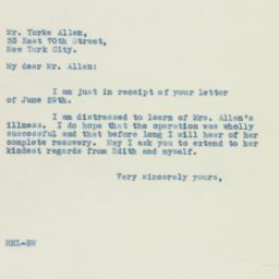 Letter: 1935 July 3