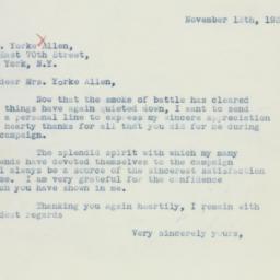 Letter: 1936 November 13