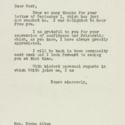 Letter: 1949 September 8