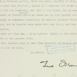 Letter: 1949 October 14