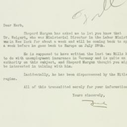 Letter: 1933 June 28