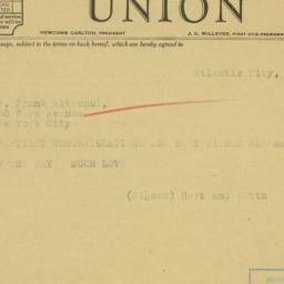 Telegram: 1935 April 21