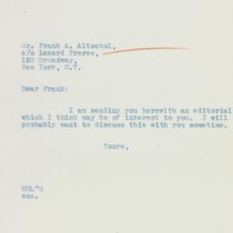 Letter: 1935 May 14