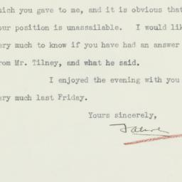 Letter: 1936 March 23