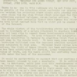 Press Release: 1941 June 16