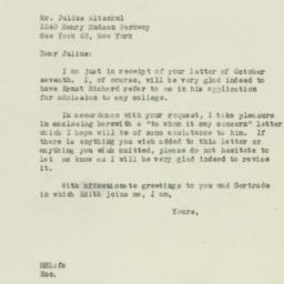 Letter : 1946 October 9