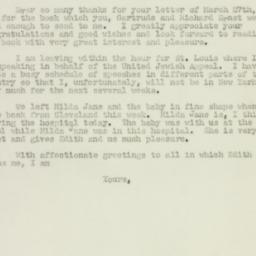 Letter : 1947 March 29