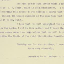 Letter : 1922 May 12