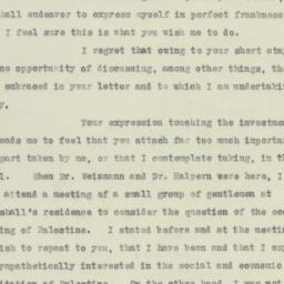 Letter: 1923 November 13