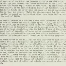 Letter: 1943 November 20