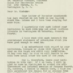 Letter: 1946 December 2