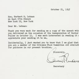 Letter : 1947 October 21