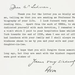 Letter : 1963 April 29