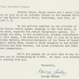 Letter: 1948 June 7