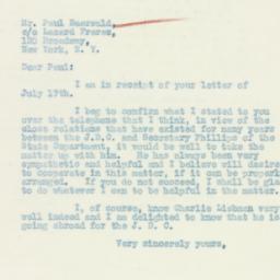 Letter : 1933 July 20