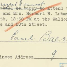 Invitation : 1950 October 16