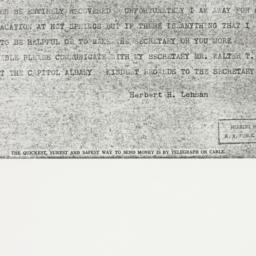 Telegram : 1937 July 16