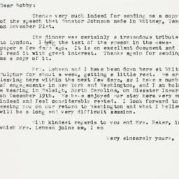 Letter : 1955 December 7