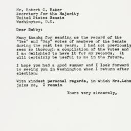 Letter: 1956 October 12
