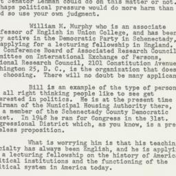 Letter: 1951 November 2