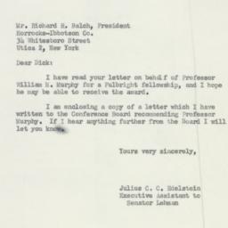 Letter : 1951 November 19