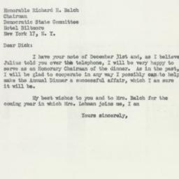 Letter: 1954 January 8