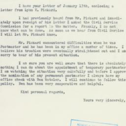 Letter: 1954 January 14