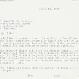 Letter: 1955 April 18