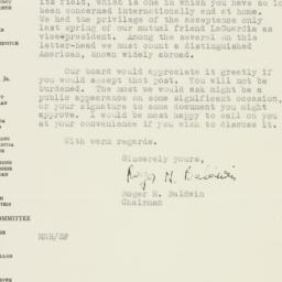 Letter: 1947 November 7
