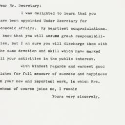 Letter: 1961 January 19