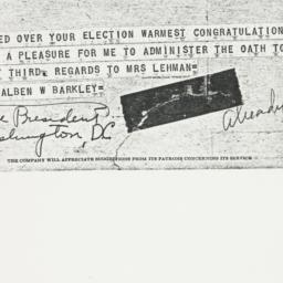 Telegram : 1949 November 9