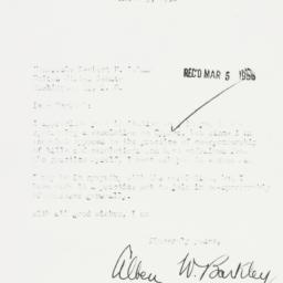 Letter : 1956 March 3