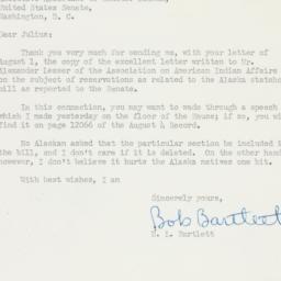 Letter : 1950 August 5