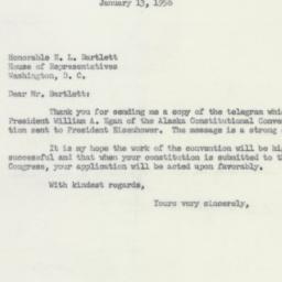 Letter : 1953 January 13